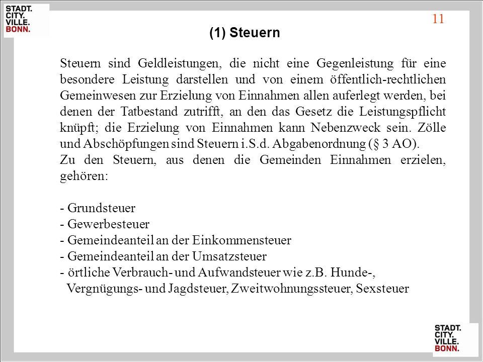 11 (1) Steuern.