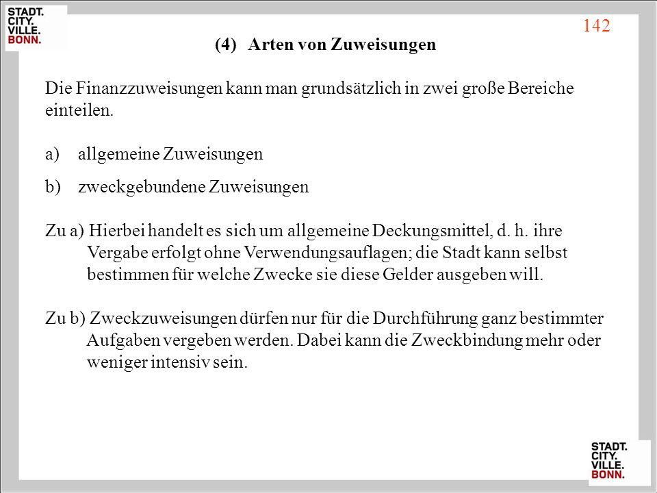 (4) Arten von Zuweisungen