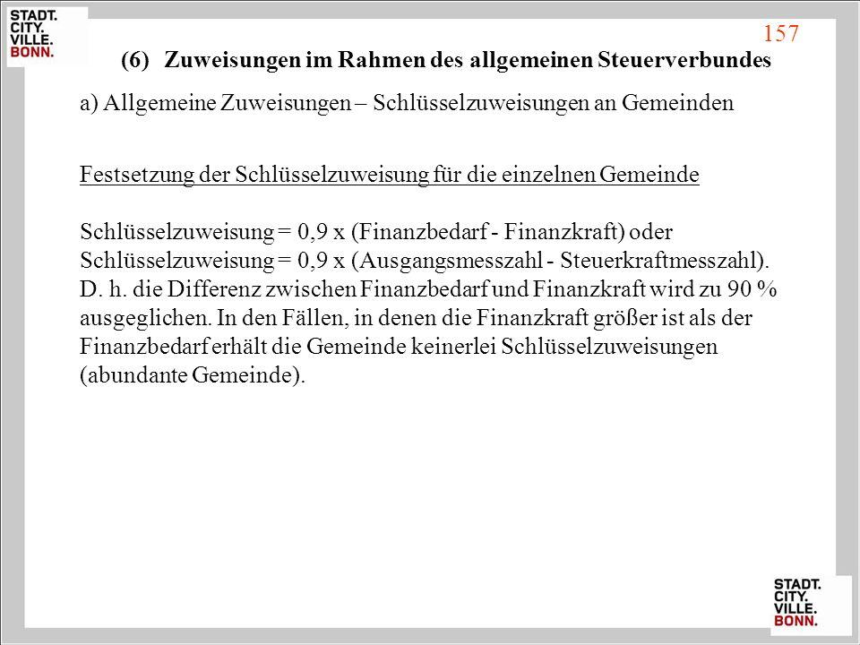 Zuweisungen im Rahmen des allgemeinen Steuerverbundes