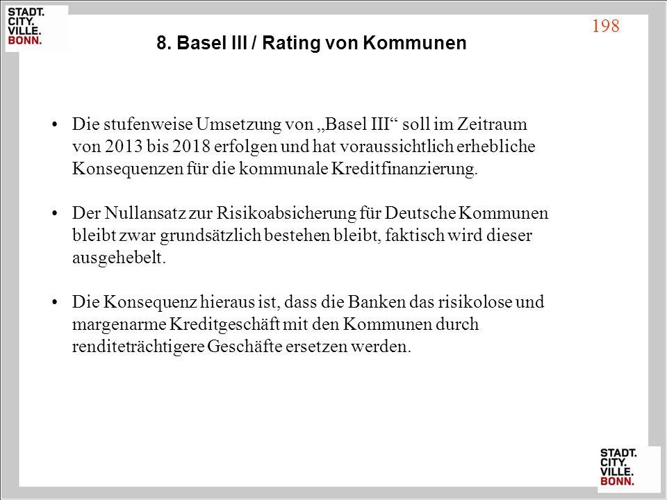 8. Basel III / Rating von Kommunen