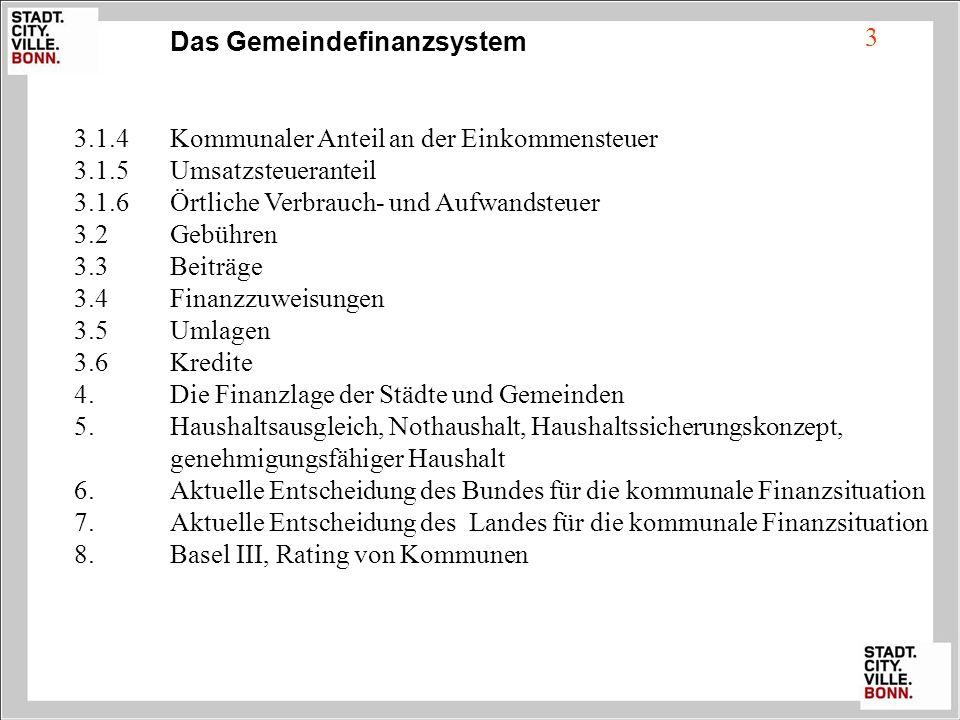 Das Gemeindefinanzsystem