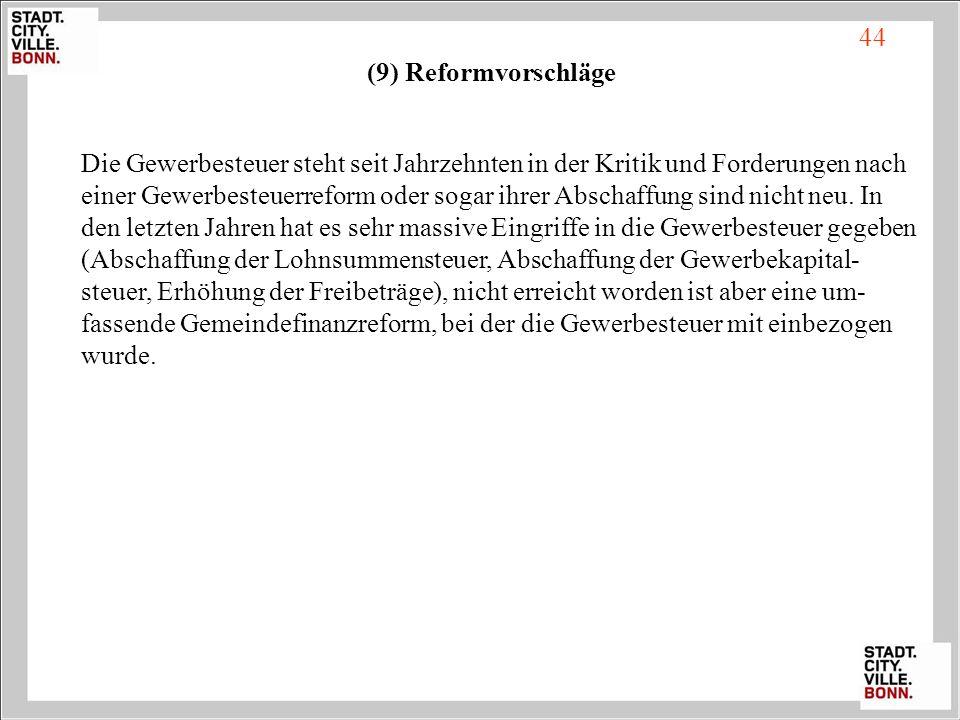 44 (9) Reformvorschläge.