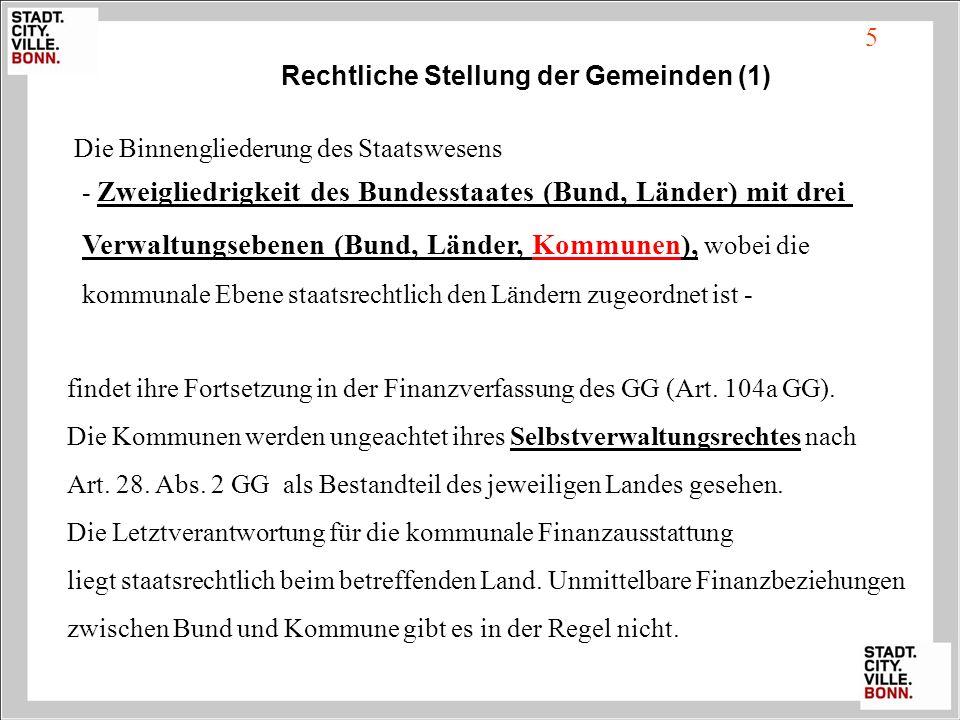 Rechtliche Stellung der Gemeinden (1)