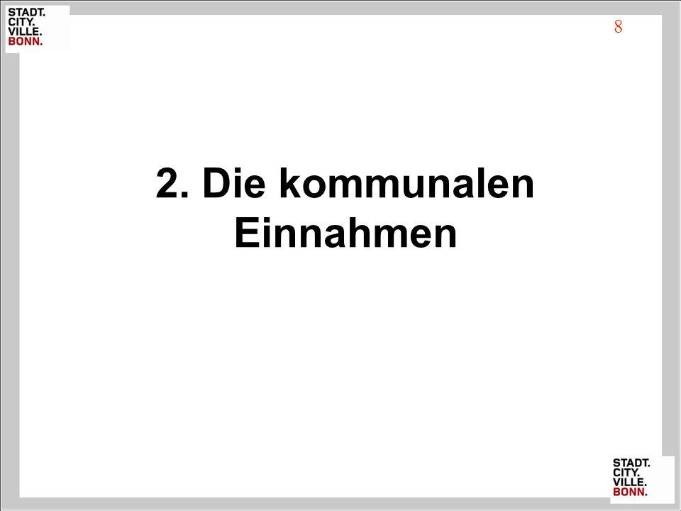 2. Die kommunalen Einnahmen