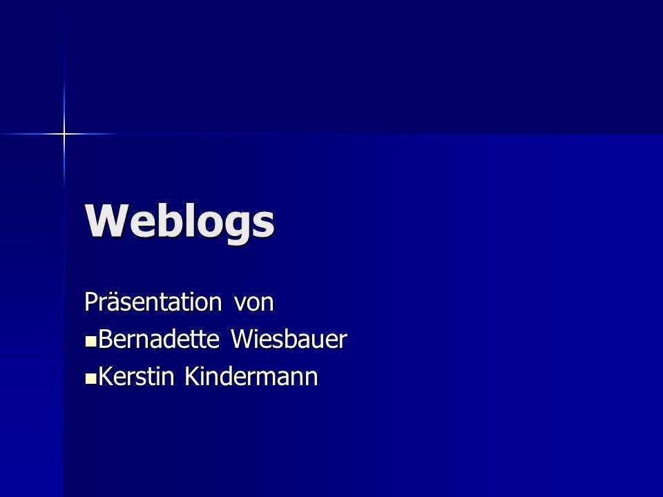 Präsentation von Bernadette Wiesbauer Kerstin Kindermann