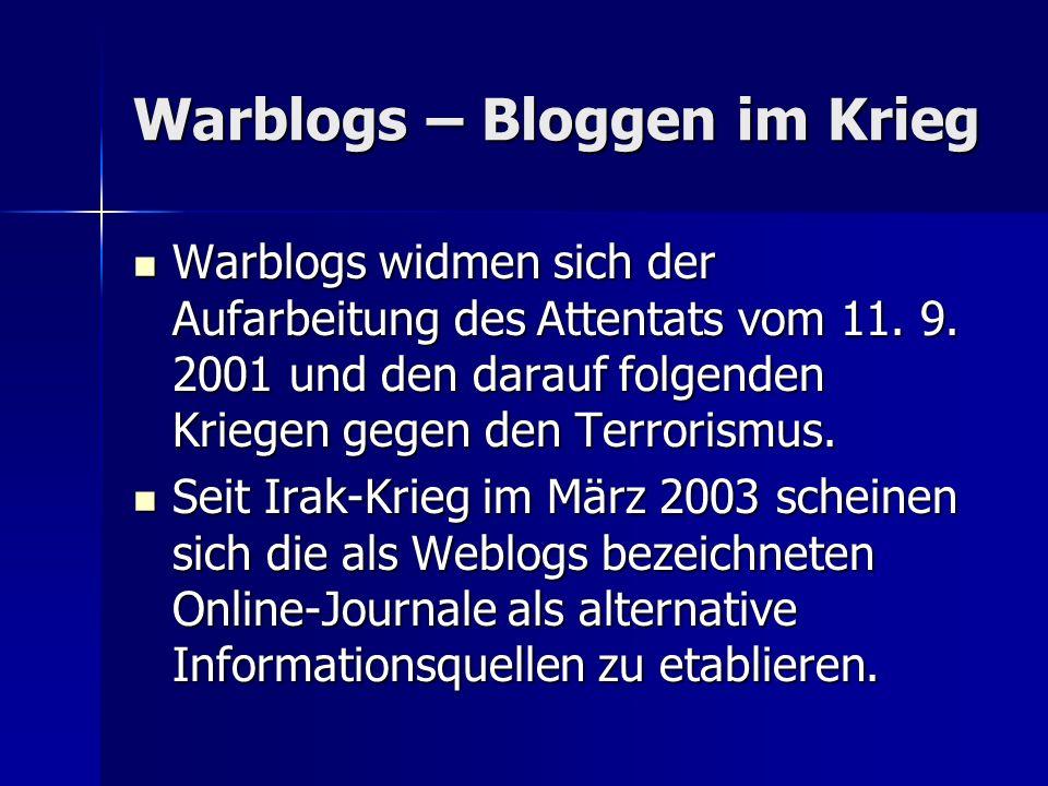 Warblogs – Bloggen im Krieg