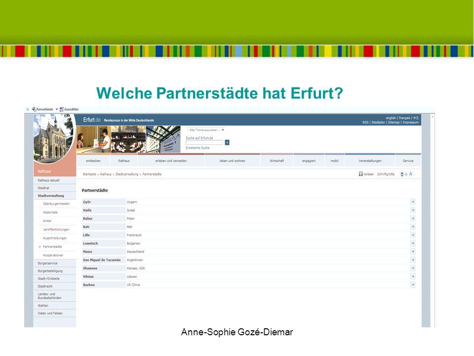 Welche Partnerstädte hat Erfurt