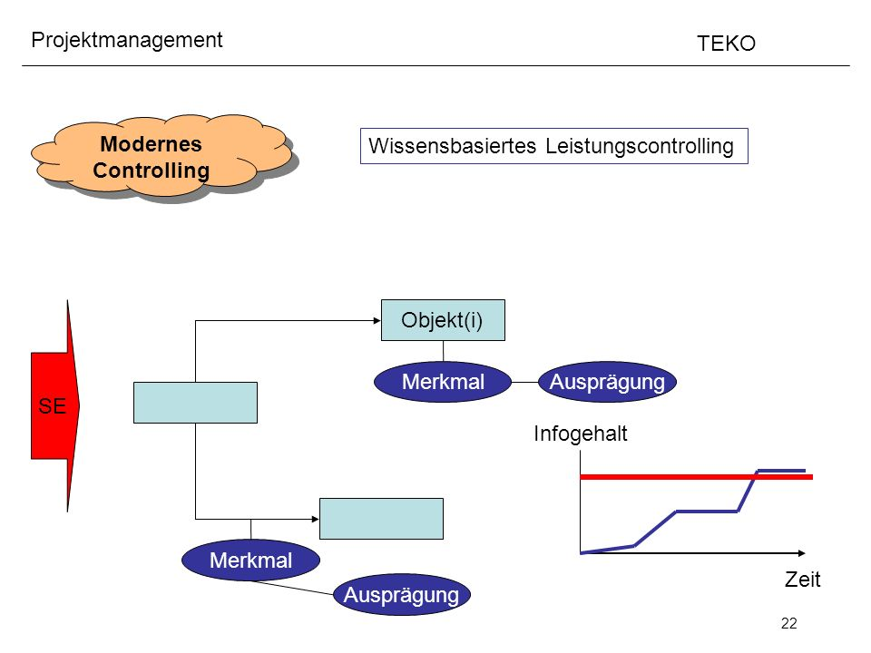 Modernes Controlling. Wissensbasiertes Leistungscontrolling. SE. Objekt(i) Merkmal. Ausprägung.