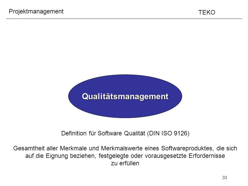 Definition für Software Qualität (DIN ISO 9126)