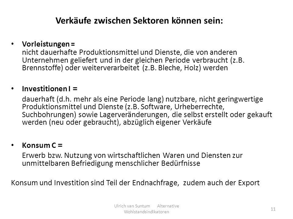Verkäufe zwischen Sektoren können sein: