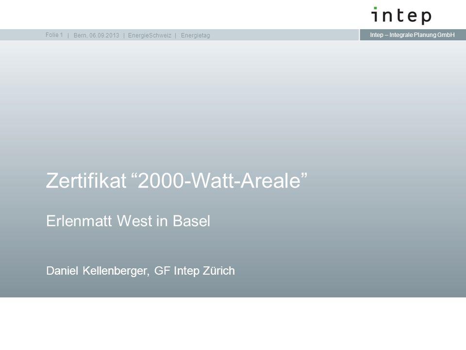 Zertifikat 2000-Watt-Areale