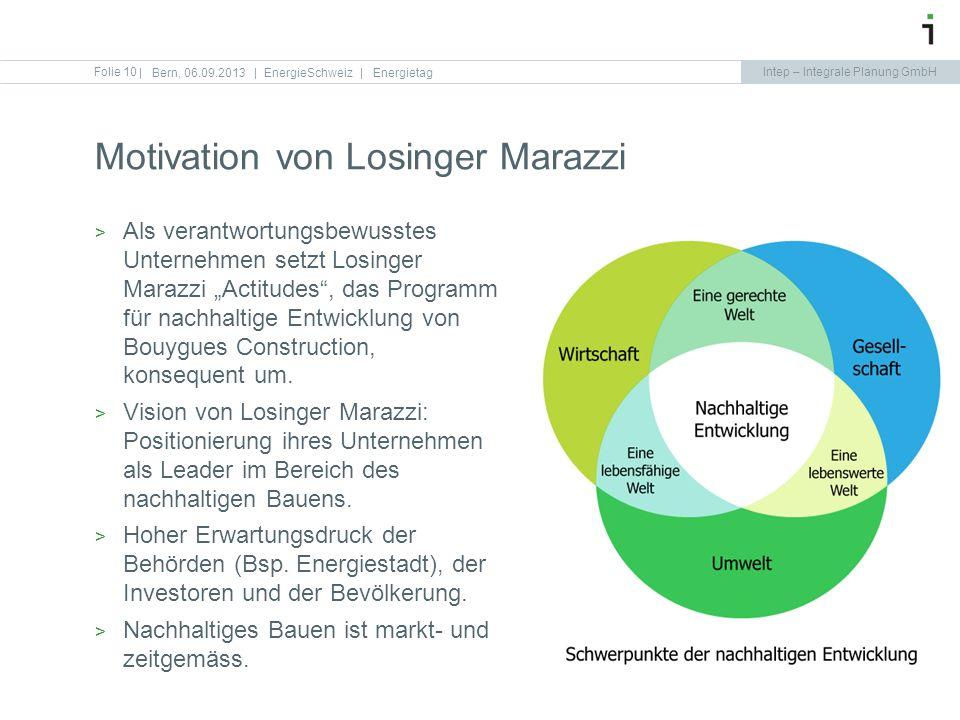 Motivation von Losinger Marazzi