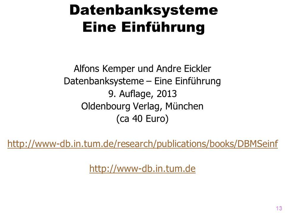Datenbanksysteme Eine Einführung
