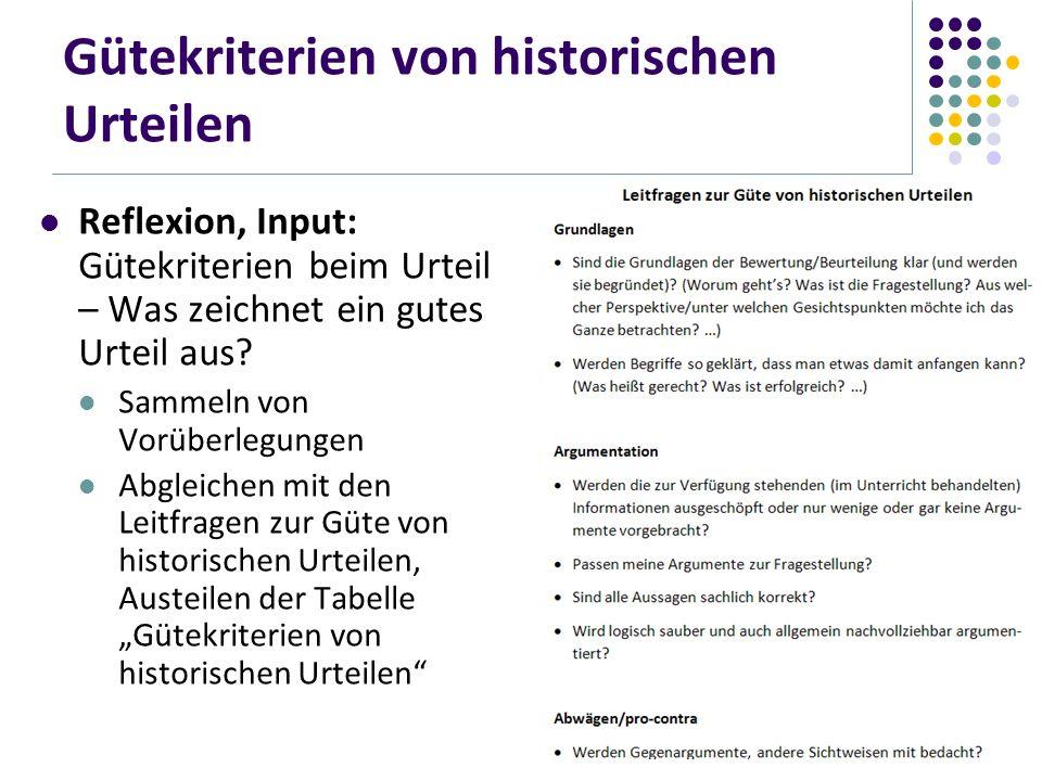 Gütekriterien von historischen Urteilen