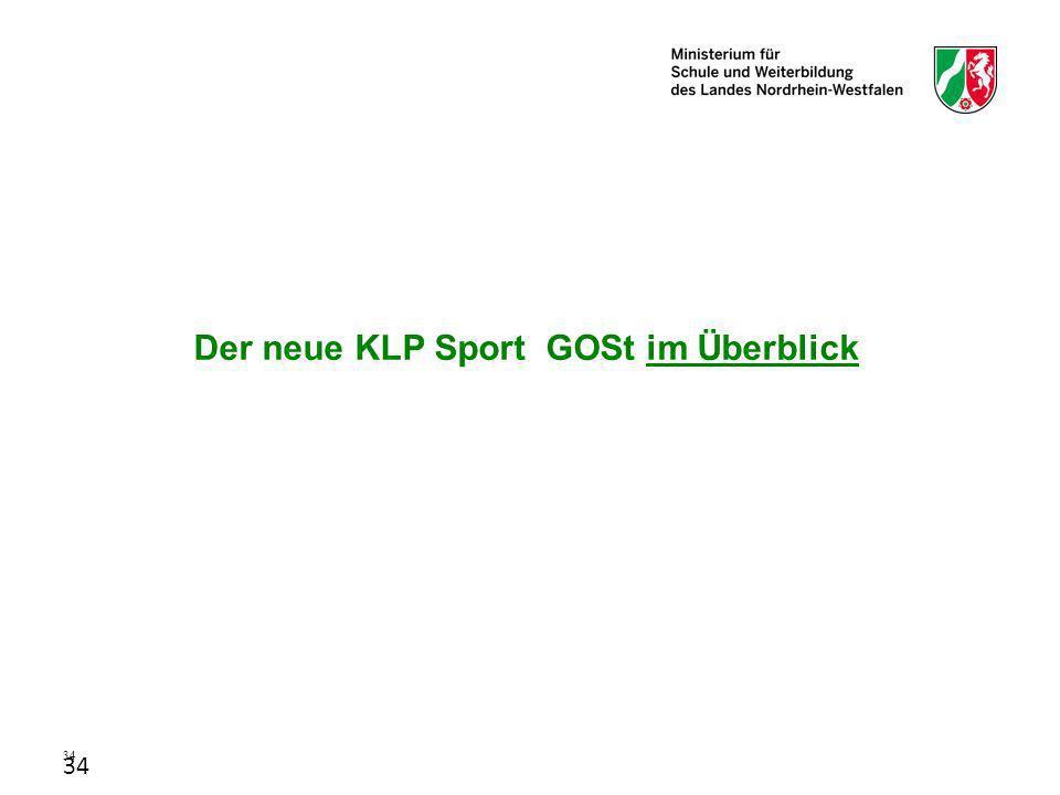 Der neue KLP Sport GOSt im Überblick