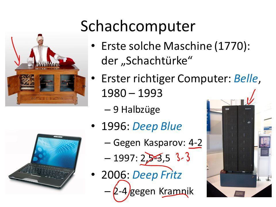 """Schachcomputer Erste solche Maschine (1770): der """"Schachtürke"""