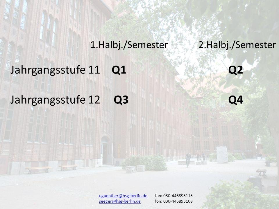 Jahrgangsstufe 11 Q1 Q2 Jahrgangsstufe 12 Q3 Q4