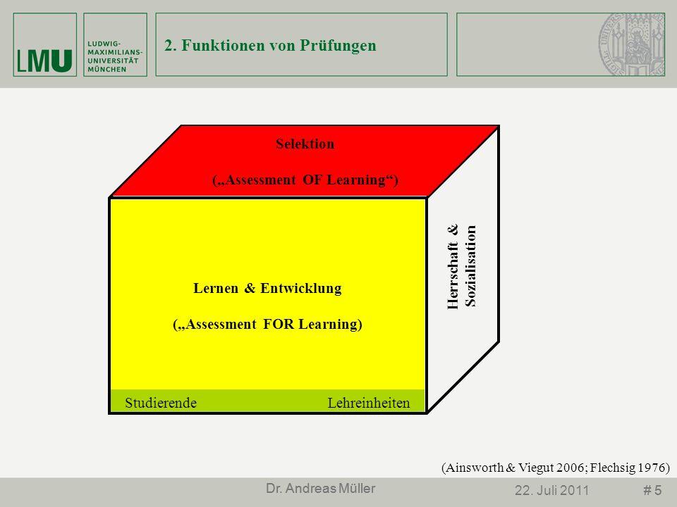 2. Funktionen von Prüfungen