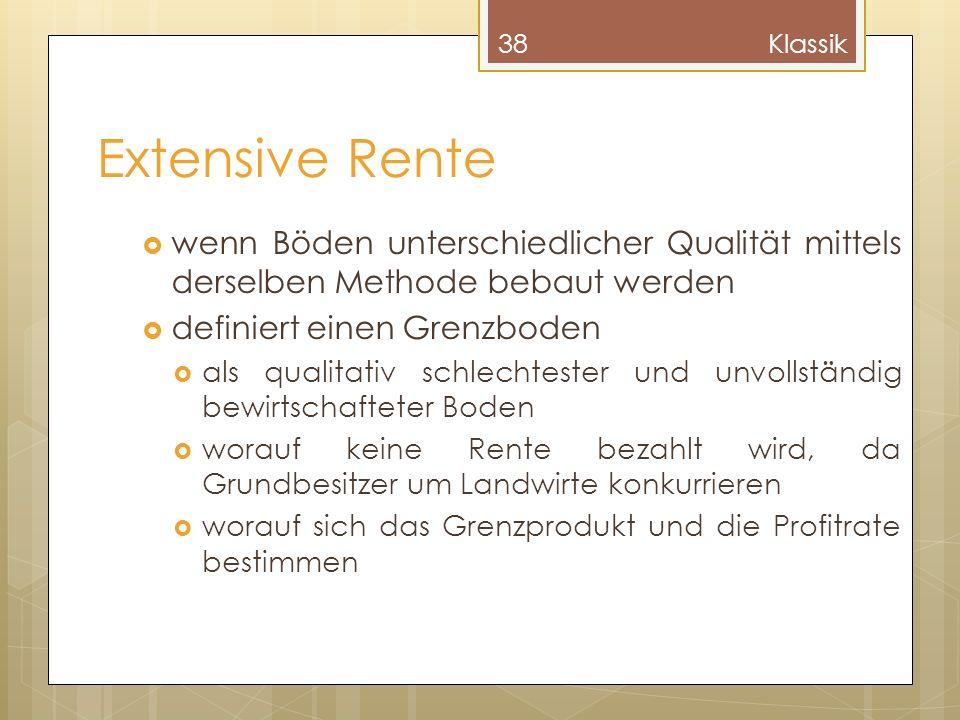 Klassik Extensive Rente. wenn Böden unterschiedlicher Qualität mittels derselben Methode bebaut werden.