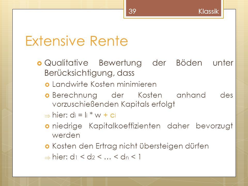 Klassik Extensive Rente. Qualitative Bewertung der Böden unter Berücksichtigung, dass. Landwirte Kosten minimieren.