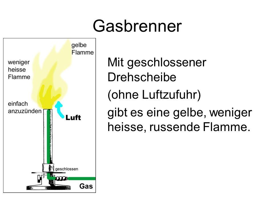 Gasbrenner Mit geschlossener Drehscheibe (ohne Luftzufuhr)