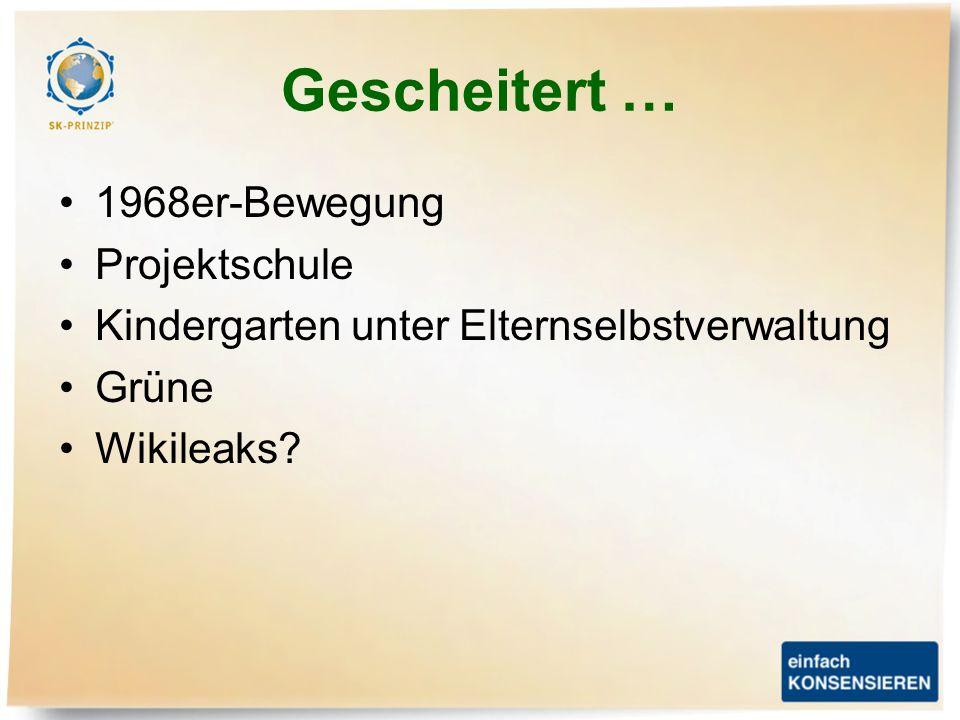 Gescheitert … 1968er-Bewegung Projektschule