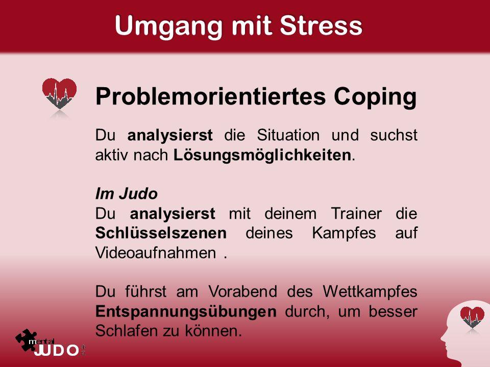 Umgang mit Stress Problemorientiertes Coping