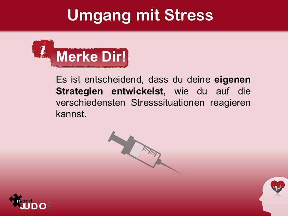 Umgang mit Stress Merke Dir!
