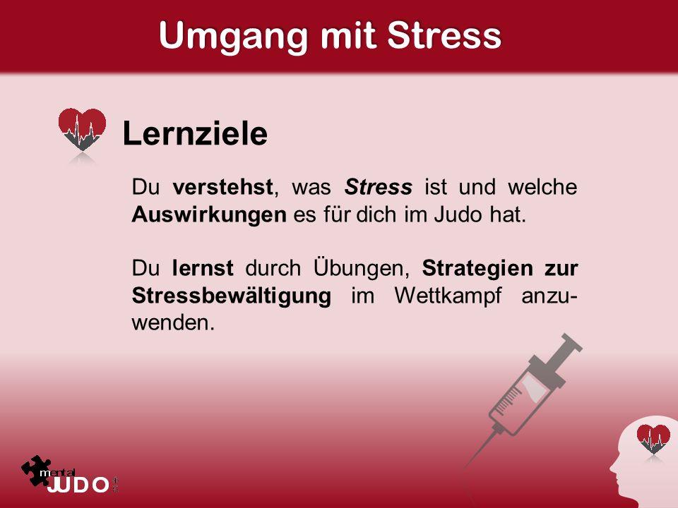 Umgang mit Stress Lernziele