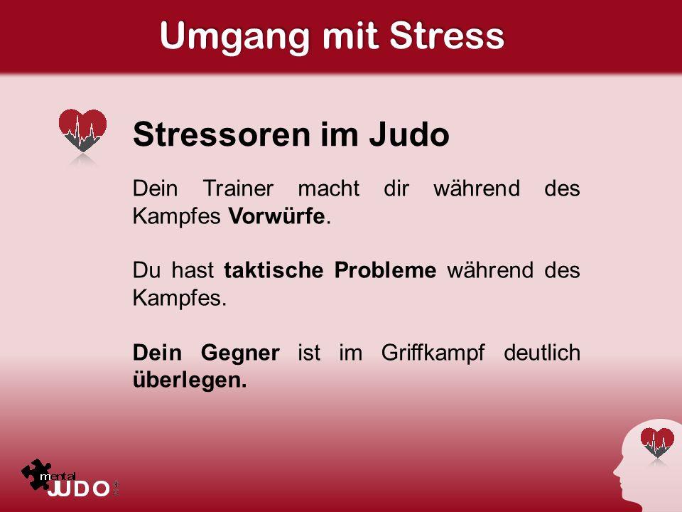 Umgang mit Stress Stressoren im Judo