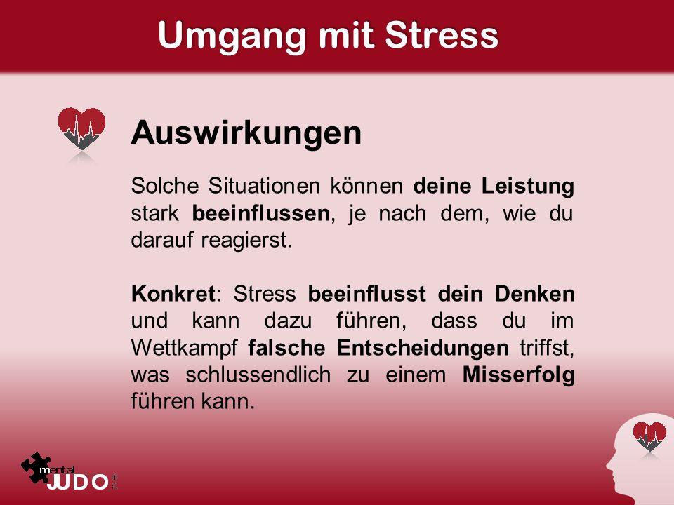 Umgang mit Stress Auswirkungen