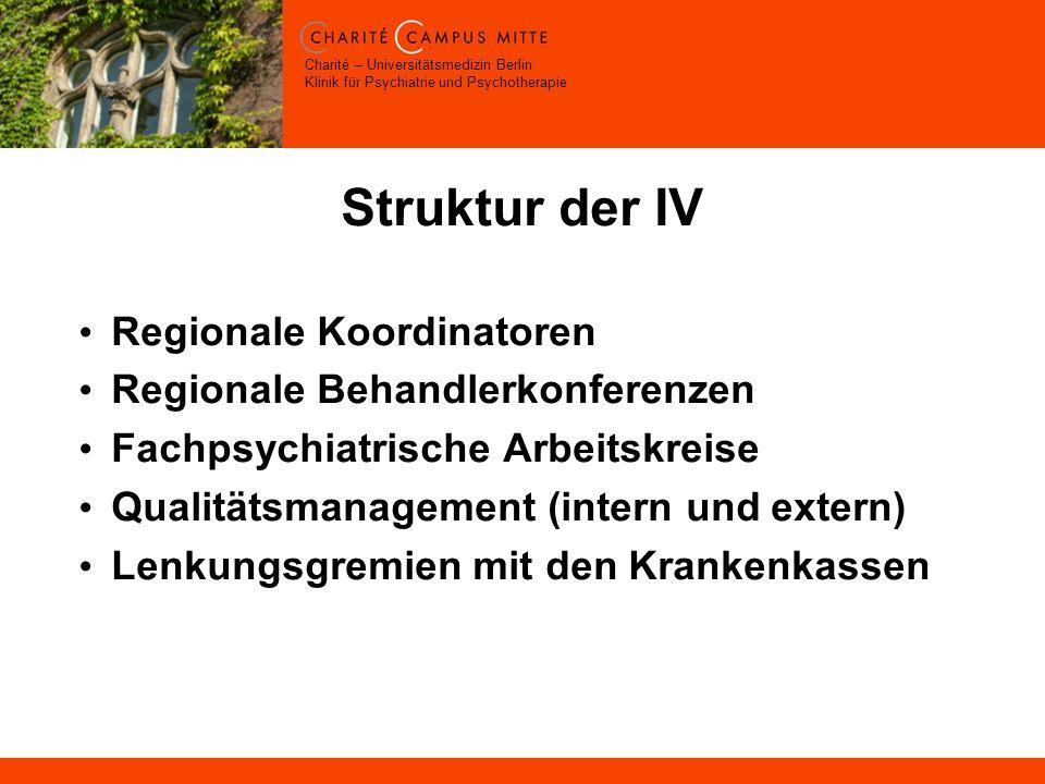 Struktur der IV Regionale Koordinatoren Regionale Behandlerkonferenzen