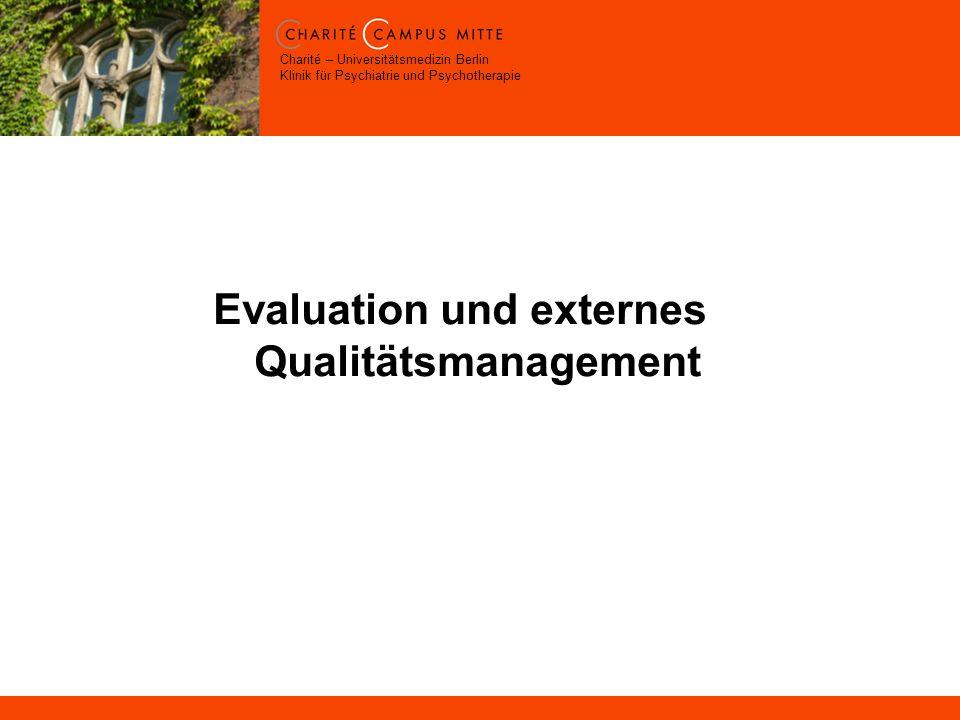 Evaluation und externes Qualitätsmanagement