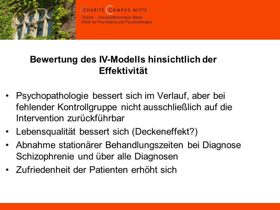 Bewertung des IV-Modells hinsichtlich der Effektivität