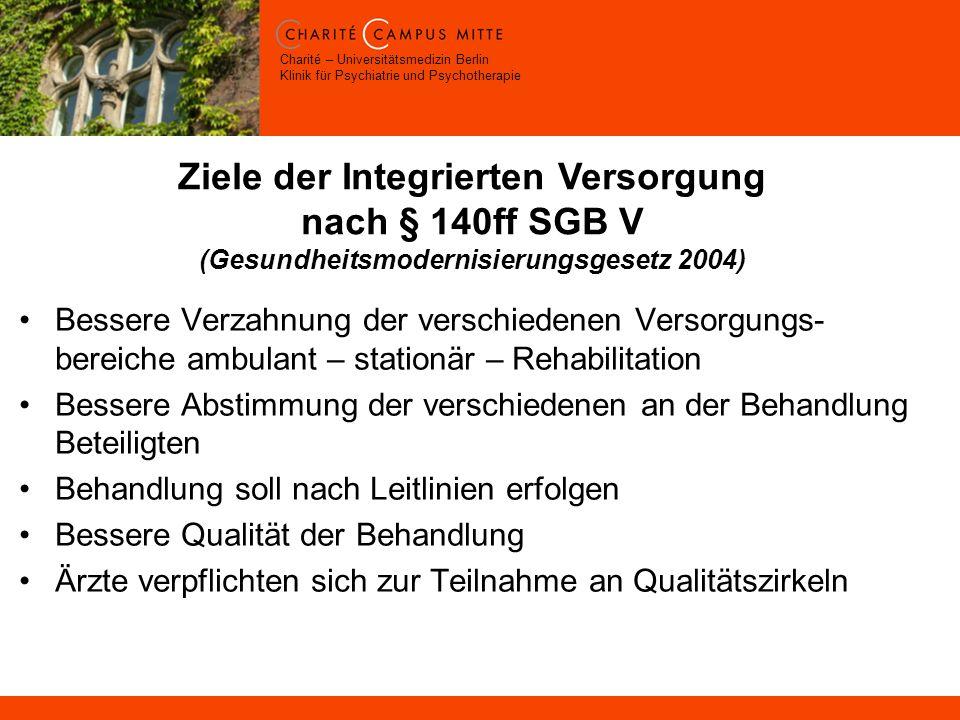 Ziele der Integrierten Versorgung nach § 140ff SGB V