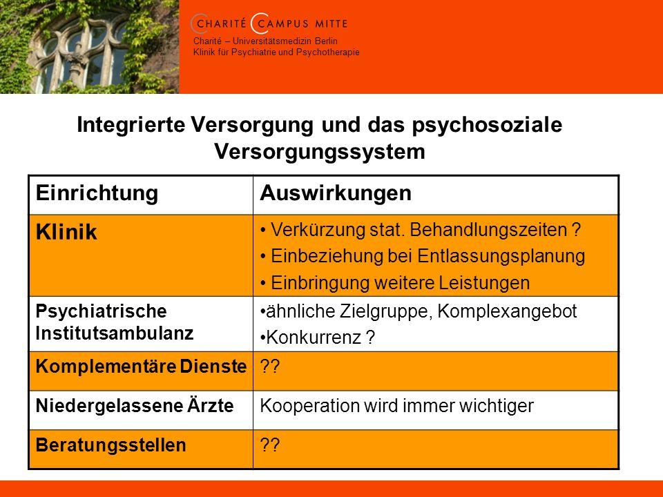Integrierte Versorgung und das psychosoziale Versorgungssystem