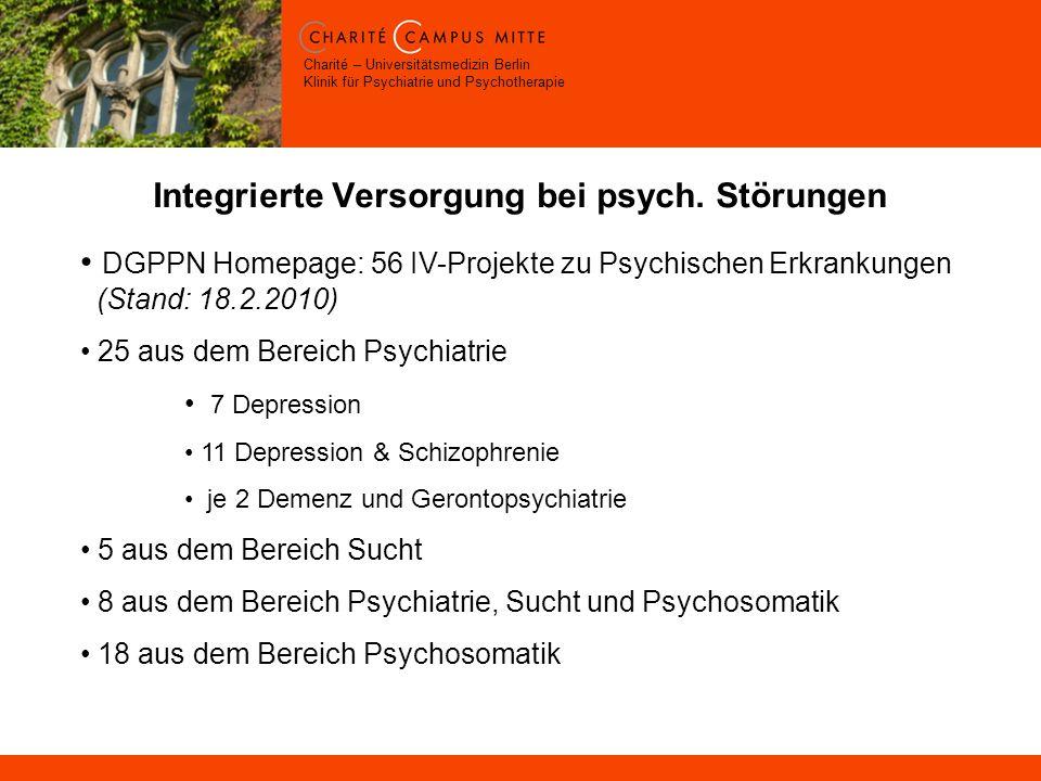 Integrierte Versorgung bei psych. Störungen