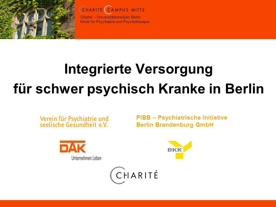 Integrierte Versorgung für schwer psychisch Kranke in Berlin