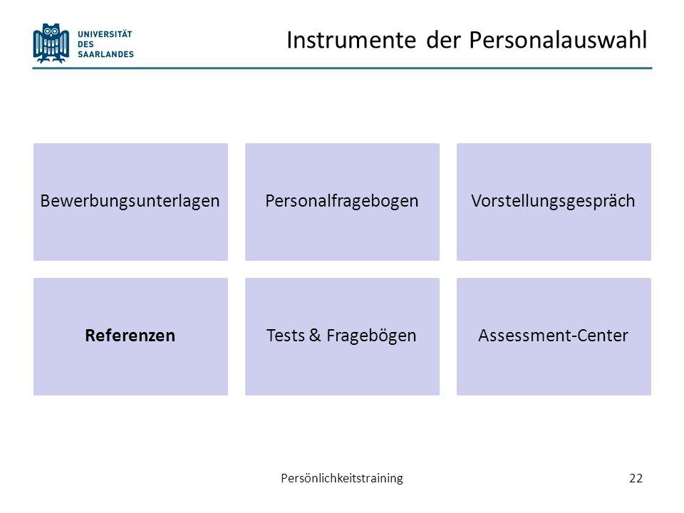 Instrumente der Personalauswahl
