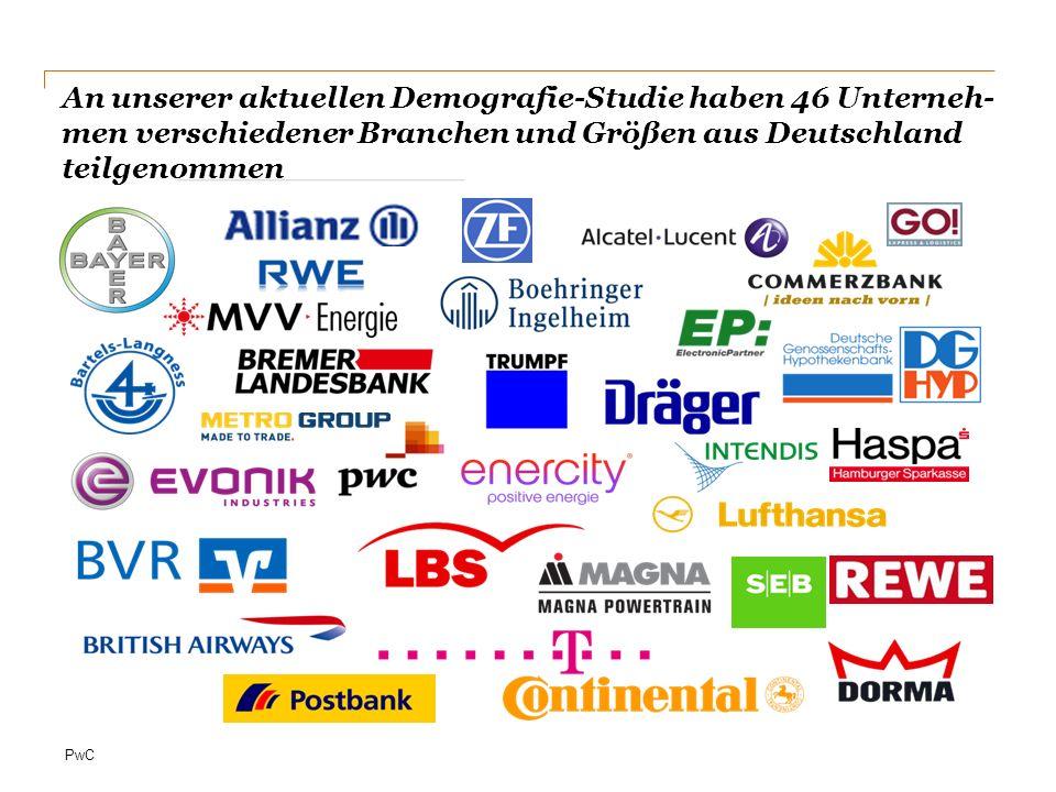 An unserer aktuellen Demografie-Studie haben 46 Unterneh-men verschiedener Branchen und Größen aus Deutschland teilgenommen