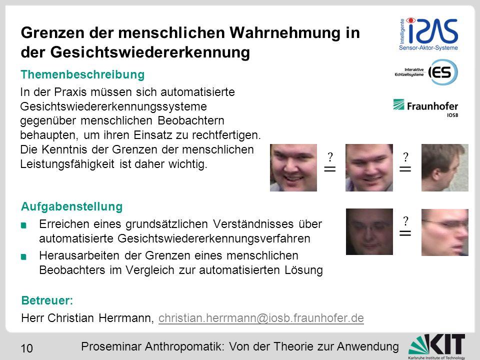 Grenzen der menschlichen Wahrnehmung in der Gesichtswiedererkennung
