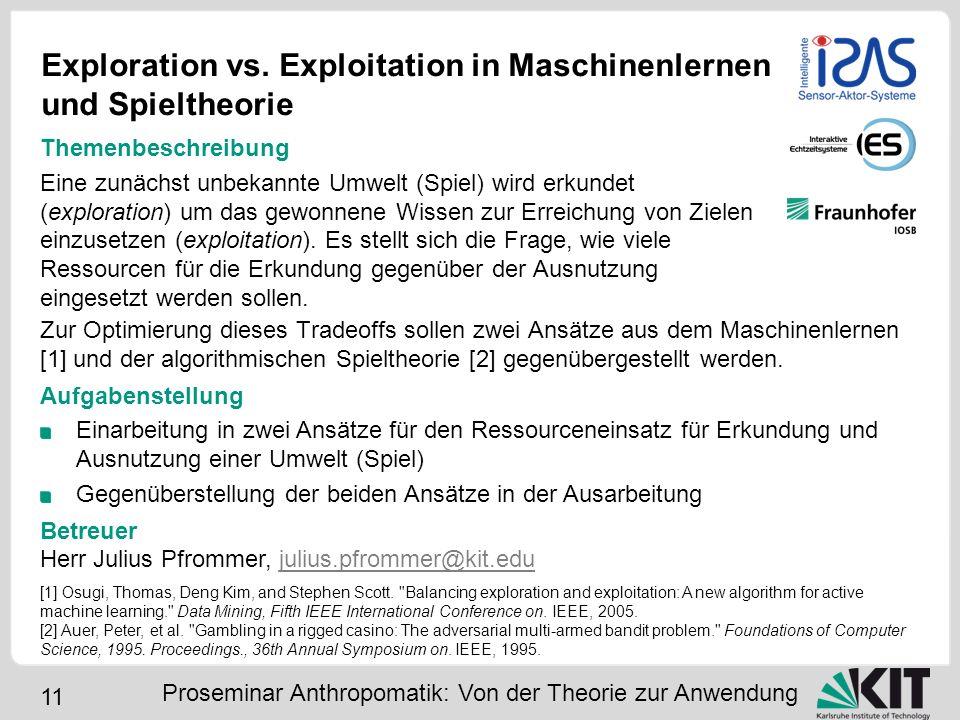 Exploration vs. Exploitation in Maschinenlernen und Spieltheorie