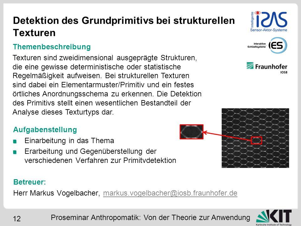 Detektion des Grundprimitivs bei strukturellen Texturen