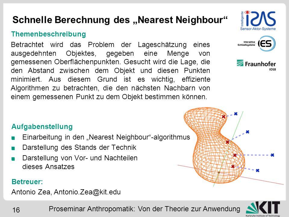 """Schnelle Berechnung des """"Nearest Neighbour"""