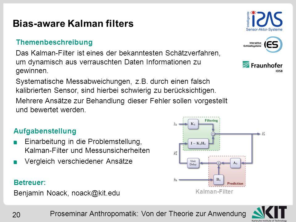 Bias-aware Kalman filters