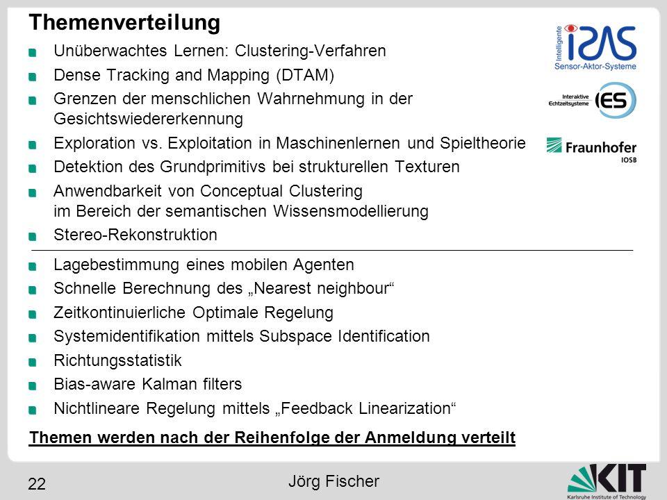 Themenverteilung Unüberwachtes Lernen: Clustering-Verfahren
