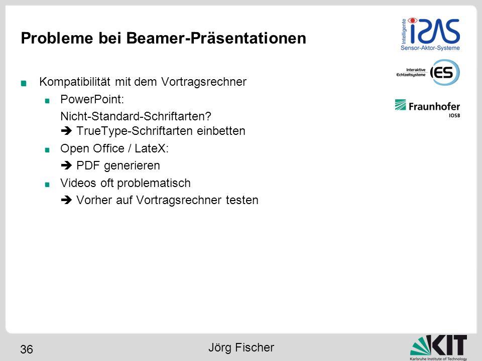 Probleme bei Beamer-Präsentationen