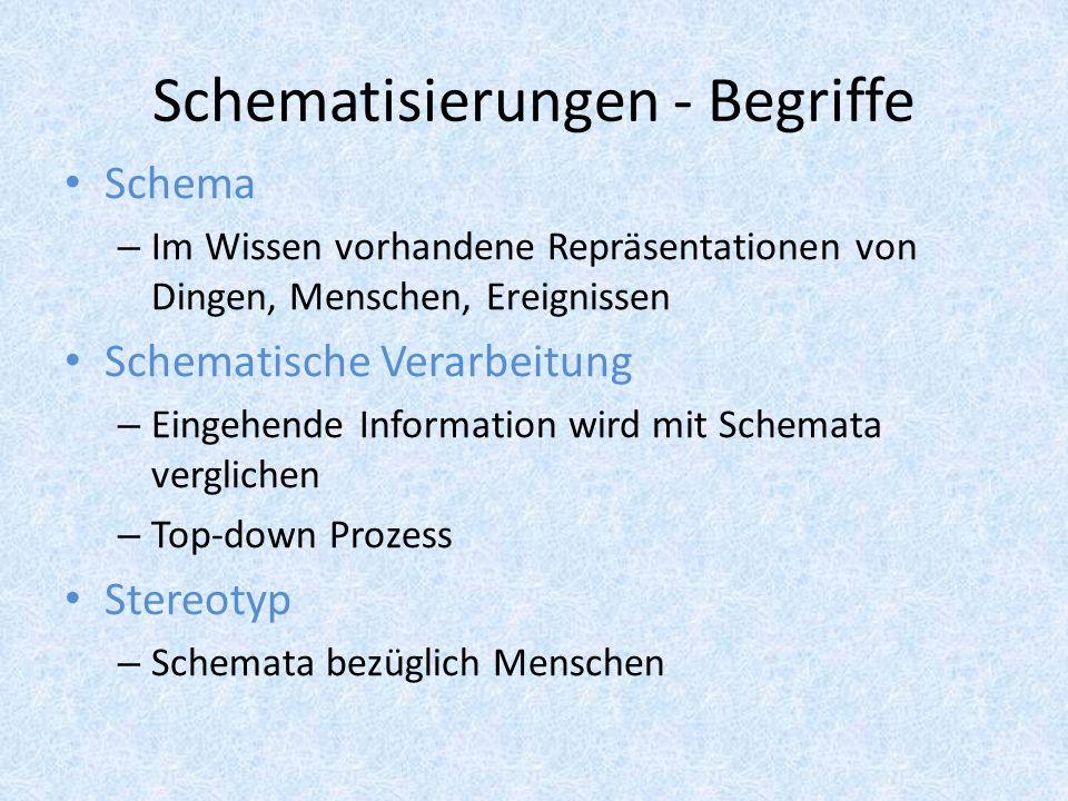 Schematisierungen - Begriffe
