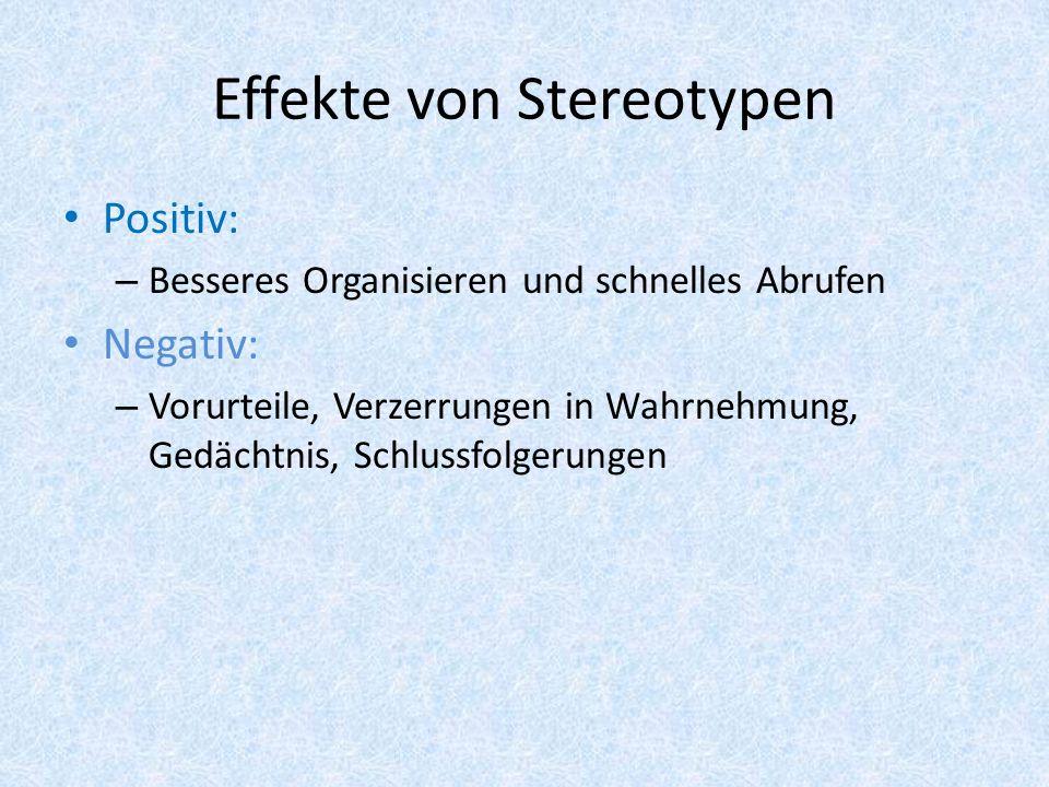 Effekte von Stereotypen