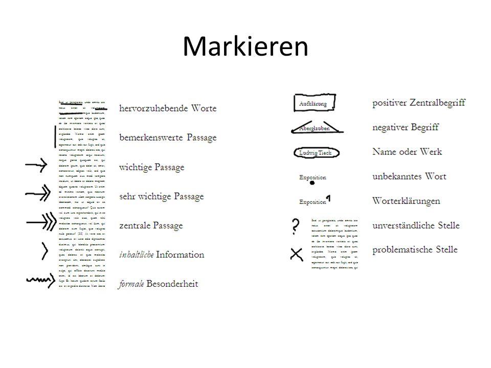 Markieren